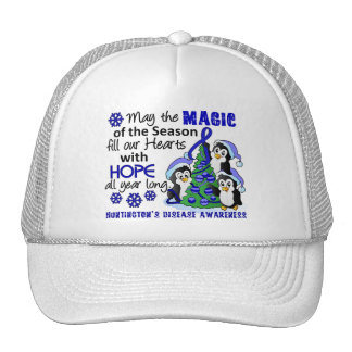 Christmas Penguins Huntington's Disease Trucker Hat