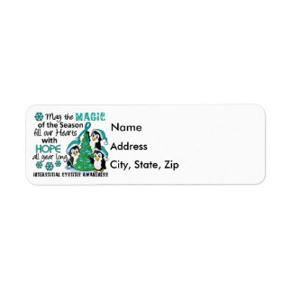 Christmas Penguins Interstitial Cystitis Label
