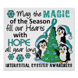 Christmas Penguins Interstitial Cystitis Posters