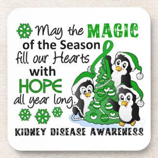 Christmas Penguins Kidney Disease Drink Coasters