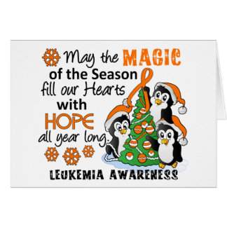 Christmas Penguins Leukemia Card