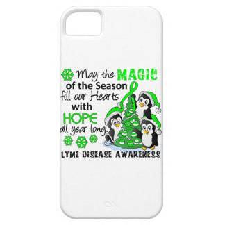 Christmas Penguins Lyme Disease iPhone 5 Cases