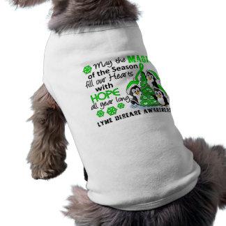 Christmas Penguins Lyme Disease Doggie T Shirt
