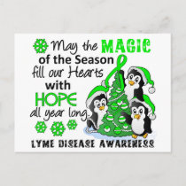 Christmas Penguins Lyme Disease Holiday Postcard