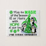 Christmas Penguins Lyme Disease Jigsaw Puzzle