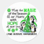 Christmas Penguins Lyme Disease Stickers