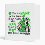 Christmas Penguins Lyme Disease Vinyl Binders