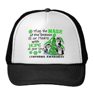 Christmas Penguins Lymphoma Trucker Hat