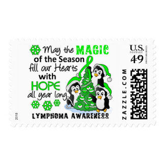 Christmas Penguins Lymphoma Stamps