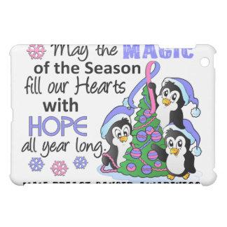 Christmas Penguins Male Breast Cancer iPad Mini Cover