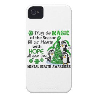 Christmas Penguins Mental Health iPhone 4 Case-Mate Case