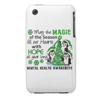 Christmas Penguins Mental Health Case-Mate iPhone 3 Case