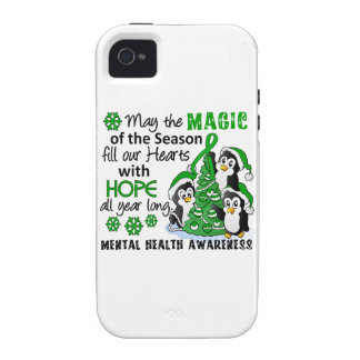Christmas Penguins Mental Health iPhone 4/4S Covers