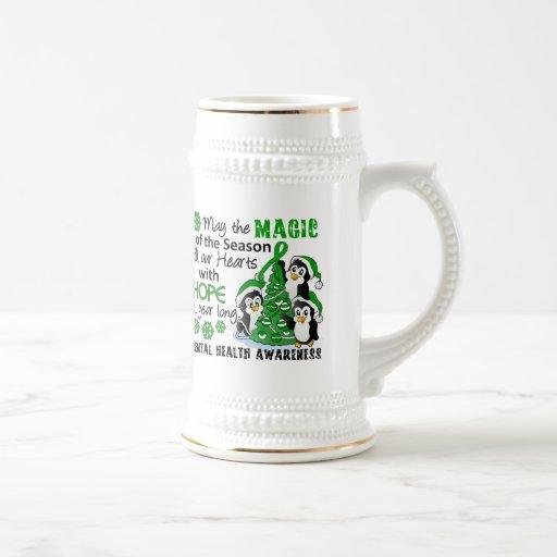 Christmas Penguins Mental Health Coffee Mug