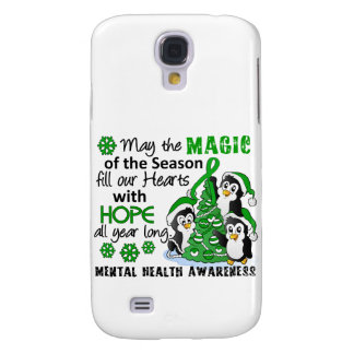 Christmas Penguins Mental Health Galaxy S4 Cases