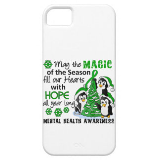 Christmas Penguins Mental Health iPhone 5 Cases