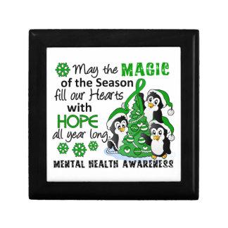 Christmas Penguins Mental Health Keepsake Box