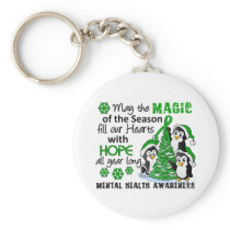 Christmas Penguins Mental Health Keychain