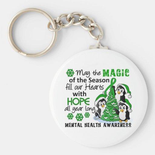 Christmas Penguins Mental Health Keychains