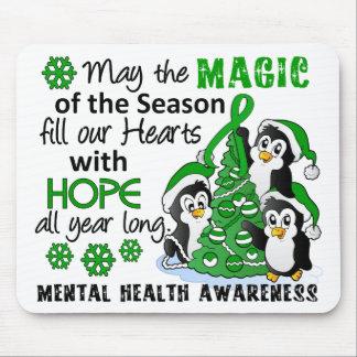 Christmas Penguins Mental Health Mouse Pad
