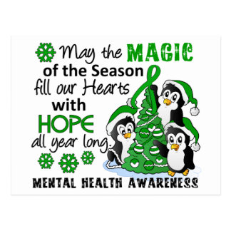 Christmas Penguins Mental Health Postcards
