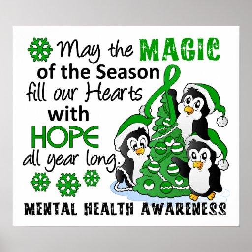 Christmas Penguins Mental Health Posters