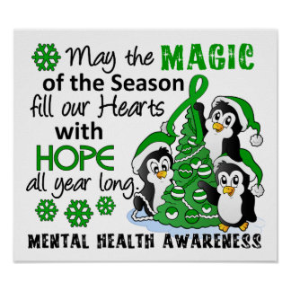 Christmas Penguins Mental Health Posters