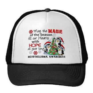 Christmas Penguins Mesothelioma Mesh Hats