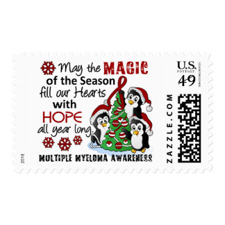 Christmas Penguins Multiple Myeloma Postage