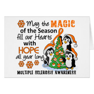 Christmas Penguins Multiple Sclerosis MS Greeting Cards