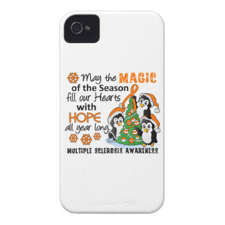 Christmas Penguins Multiple Sclerosis MS iPhone 4 Case-Mate Case