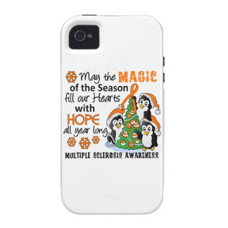 Christmas Penguins Multiple Sclerosis MS iPhone 4 Case