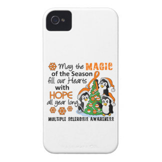 Christmas Penguins Multiple Sclerosis MS iPhone 4 Cover