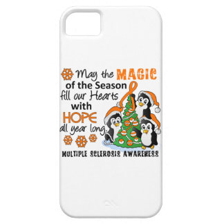 Christmas Penguins Multiple Sclerosis MS iPhone 5 Cases