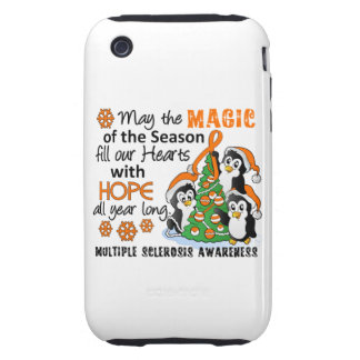 Christmas Penguins Multiple Sclerosis MS Tough iPhone 3 Cases