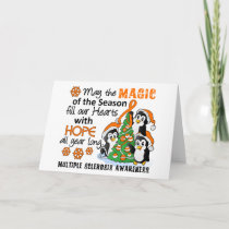 Christmas Penguins Multiple Sclerosis MS Holiday Card
