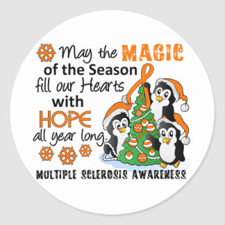 Christmas Penguins Multiple Sclerosis MS Stickers