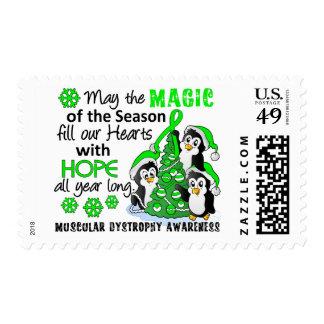 Christmas Penguins Muscular Dystrophy Postage Stamp