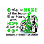 Christmas Penguins Muscular Dystrophy Postcard