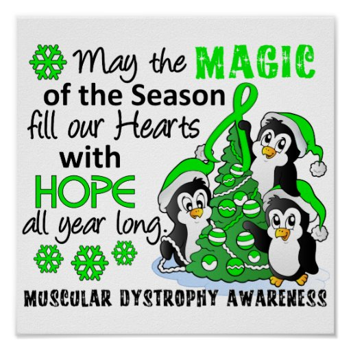 Christmas Penguins Muscular Dystrophy Posters