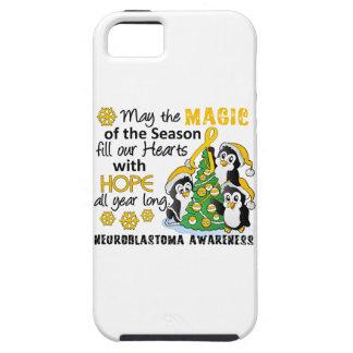 Christmas Penguins Neuroblastoma iPhone 5 Cases
