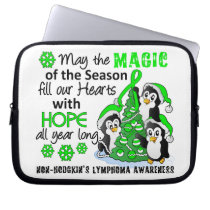 Christmas Penguins Non-Hodgkin's Lymphoma Laptop Sleeve