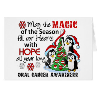 Christmas Penguins Oral Cancer Card