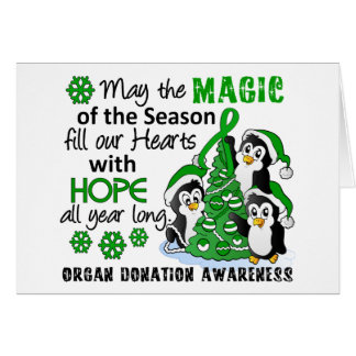Christmas Penguins Organ Donation Greeting Cards