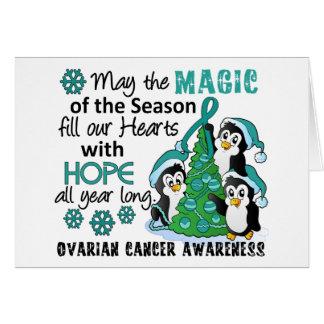 Christmas Penguins Ovarian Cancer Card