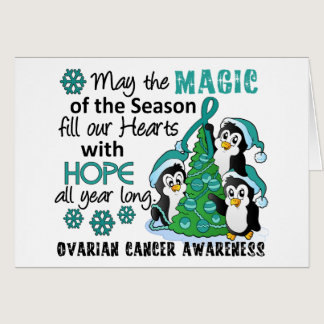 Christmas Penguins Ovarian Cancer Card