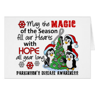 Christmas Penguins Parkinson's Disease Card