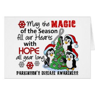 Christmas Penguins Parkinson's Disease Card