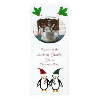 Christmas Penguins Party Invitations