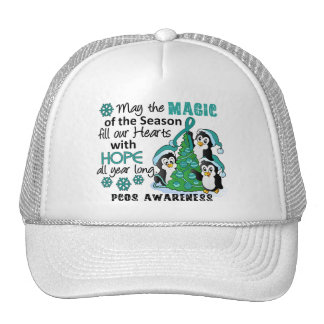 Christmas Penguins PCOS Trucker Hat